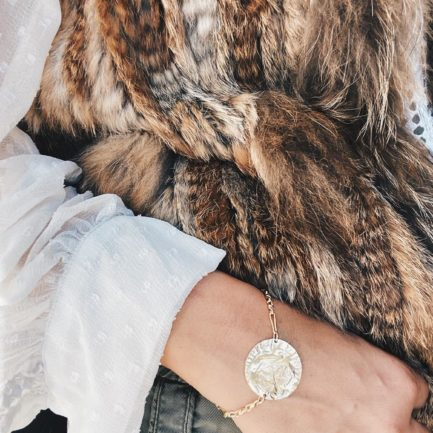 bracelet, plaqué or, écu